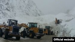 An avalanche closed one of Tajikistan's key highways last week.