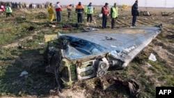 Կործանված Boeing-ի բեկորները, Իրան, 8-ը հունվարի, 2020թ․