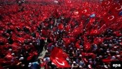Resim: 2016 senesi iyül 15 künü Türkiyedeki miting