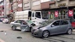 Pamje pas aksidentit në Prishtinë