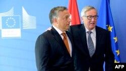 Viktor Orban və Jean-Claude Juncker