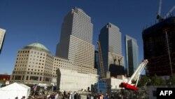 Нью-Йорк: на этом месте стояли разрушенные небоскрёбы Всемирного торгового центра
