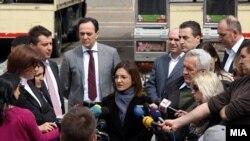 Архивска фотографија: Поранешниот началник на УБК Сашо Мијалков и поранешната министерка за внатрешни работи Гордана Јанкулоска
