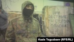 """Кадр из фильма """"20"""" о киевском Майдане. Алматы, 27 августа 2014 года."""