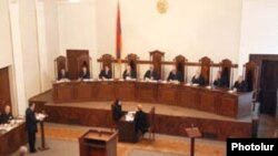 Armenia -- The Constitutional Court holds a hearing.