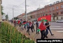 Акцыя ў падтрымку Лукашэнкі, Віцебск, 20 жніўня
