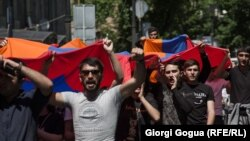 Yerevanda nümayişlər, 2 may, 2018-ci il