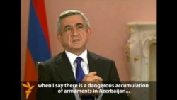 Armenian President Says Azerbaijan Is Preparing For War