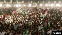 آرشیف، تظاهرات مخالفان عمران خان در پاکستان