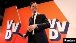 Лидер правящей Народной Партии за Свободу и Демократию (VVD) Марк Рютте