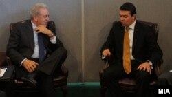 Средба на министрите за надворешни работи на Грција и Македонија, Димитрис Аврамопулос и Никола Попоски во Њујорк на 24 септември 2012 година.