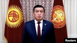 Президент Сооронбай Жээнбеков 6-октябрда өлкөдөгү коомдук-саясий кырдаалга байланыштуу кайрылуу жасаган. 6-октябрь, 2020-жыл.