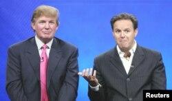 """Дональд Трамп и Марк Барнетт, продюсер шоу """"Подмастерье"""" (The Apprentice)"""