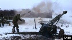 Проросійські сепарасти ведуть вогонь біля Дебальцева, 10 лютого 2015 року