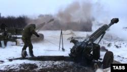 Артиллерия сепаратистов у Дебальцева, 10 февраля 2015 г.