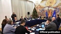 Скопје - Седница на Советот за безбедност кој го свика претседателот Стево Пендаровски, а на која присуствуваат невладините еко организации