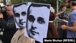 Акція на підтримку Олега Сенцова у Празі, 28 серпня 2018 року