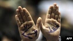 یکی از حامیان محمود احمدی نژاد در زمان تبلیغات انتخاباتی