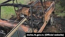 Возгорание автомобиля в селе Доброе-3 Симферопольского района