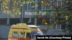 На месте взрыва в Керчи
