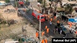 Фотографија од местото на експлозијата на бомбата во Кабул, 9 септември 2020