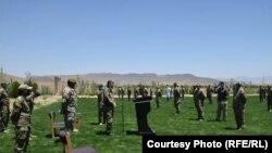 د افغانستان کورنیو چارو سرپرست وزیر مسعود اندرابي لوګر کې ځانګړو پولیسو ته د وینا پر مهال.