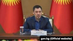Садыр Жапаров на заседании Совета по развитию бизнеса и инвестициям при правительстве. Бишкек. 23 октября 2020 года.