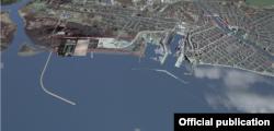 В администрации порта пояснили, что задержка загрузки контейнерного корабля помешала заходу американского корабля