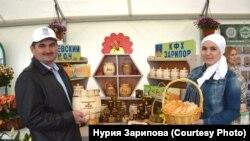 Нурия Зарипова әтисе Гафур Зарипов белән