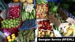 Georgia -- vegetable and fruit market, food.