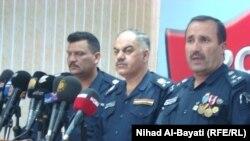 قادة الشرطة في كركوك في مؤتمر صحفي
