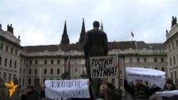 Митинг в Праге против фальсификации выборов