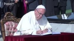 Papa Francisc vizitează Memorialul armean al Genocidului