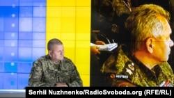 Головнокомандувач ЗСУ Валерій Залужний у студії Радіо Свобода під час Суботнього інтерв'ю