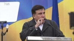 Saakashvili Kiyevdə etiraz aksiyası keçirdi