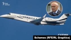 «Схемам» вдалося з'ясувати, що Embraer з бортовим номером ОЕ-ITA використовує білоруський олігарх Микола Воробей