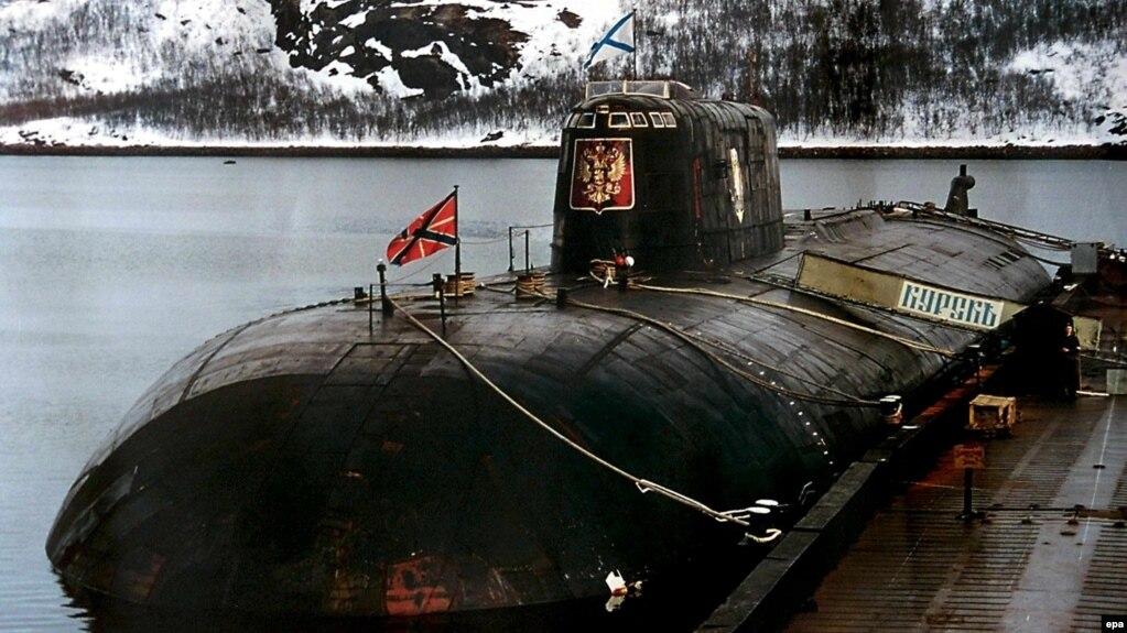 """АПЛ """"Курск"""" за год до гибели. Военно-морская база в Видяево под Мурманском, 1999 год"""