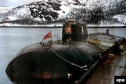 """АПРК """"Курск"""" на базе ВМФ России в Видяево. Дата неизвестна"""