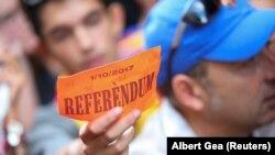 Барселона, 20 сентября 2017. Горожане готовятся к референдуму о независимости