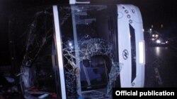 Տուլայի տարածաշրջանում վթարի ենթարկված Մոսկվա-Երևան ավտոբուսը, 3-ը նոյեմբերի, 2015թ.