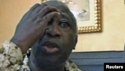 A video still shows Laurent Gbagbo after being arrested in Abidjan on April 11.
