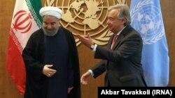 آقایان گوترش و روحانی در مقر سازمان ملل