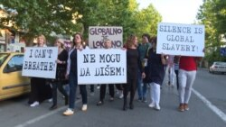 Montenegrins Hold 'I Can't Breathe' Protest March Against Racial Injustice