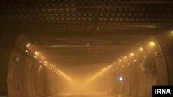 نمایی از تونل البرز