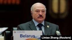 Aljakszandr Lukasenka Pekingben, 2017. május 15-én
