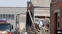 Руїни фабрики в Сан-Феліче-суль-Панаро після землетрусу 29 травня 2012 року
