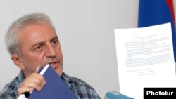 Armenia -- Aram Manukian, the newly elected chairman of the opposition Armenian Pan-National Movement, at a news conference, 21July 2010.