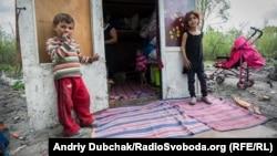 Табір ромів на Троєщині у Києві, архівне фото