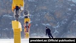 Prezident İlham Əliyev Şahdağda turizm kompleksinin açılış mərasimində, arxiv fotosu