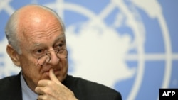 The UN envoy for Syria, Staffan de Mistura
